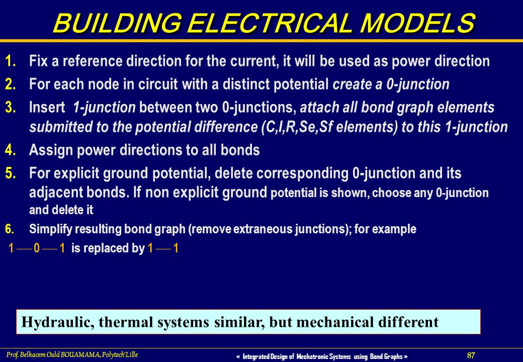 BUILDING ELECTRICAL MODELS