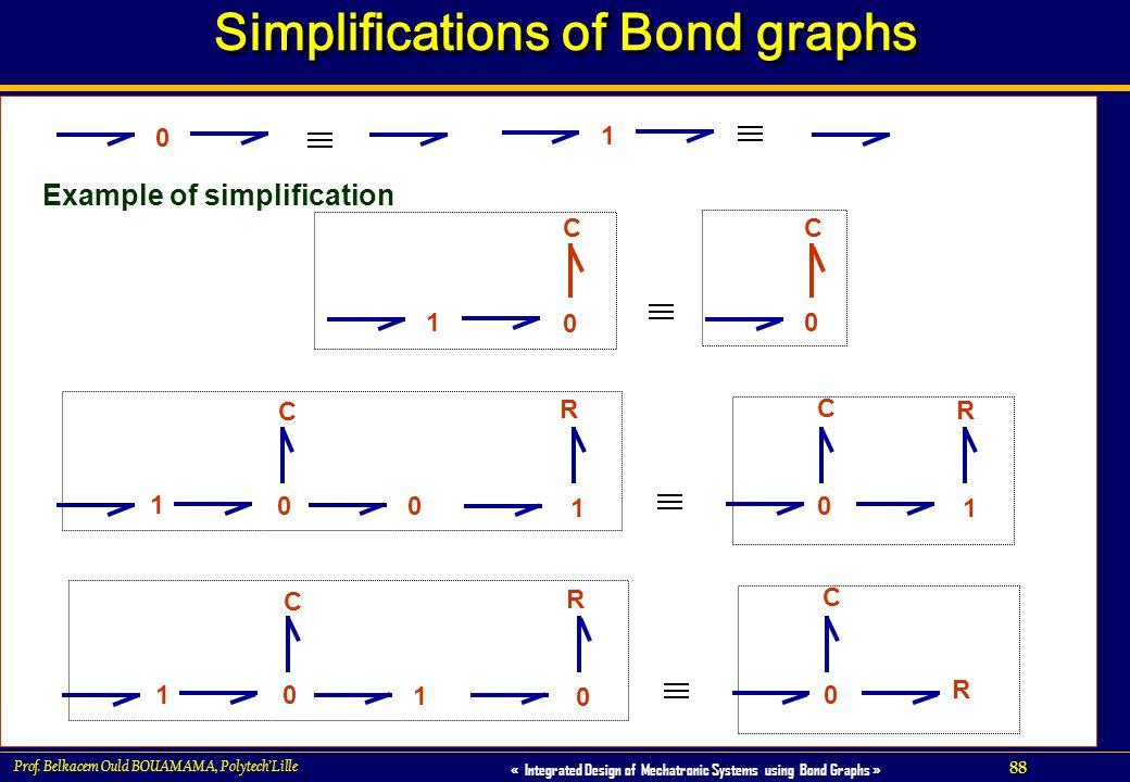 Simplifications of Bond graphs