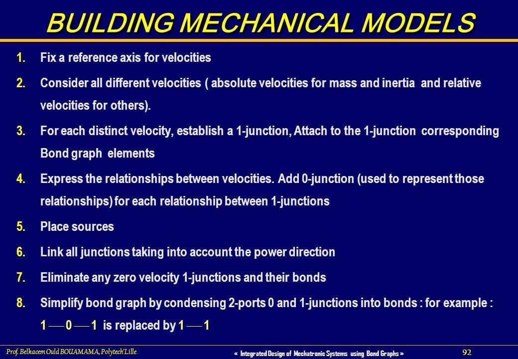 BUILDING MECHANICAL MODELS