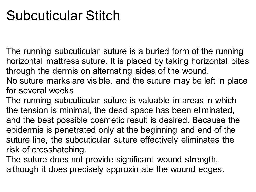 Subcuticular Stitch