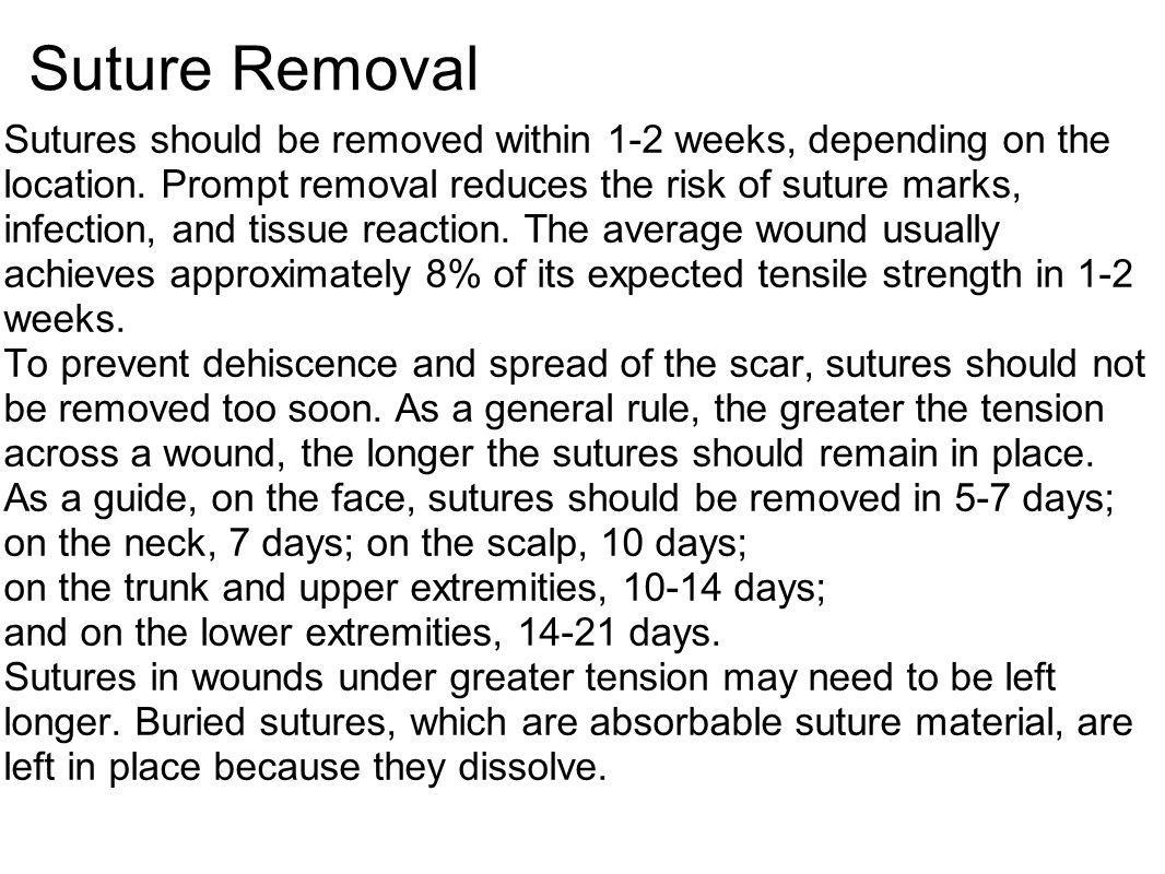 Suture Removal