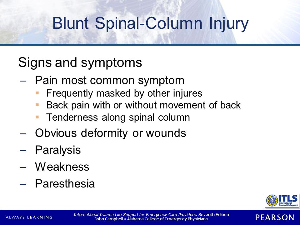 Blunt Spinal-Cord Injury
