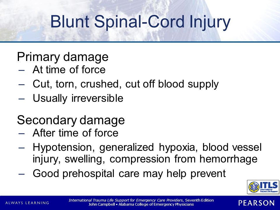 Spinal Injury Courtesy of John Campbell