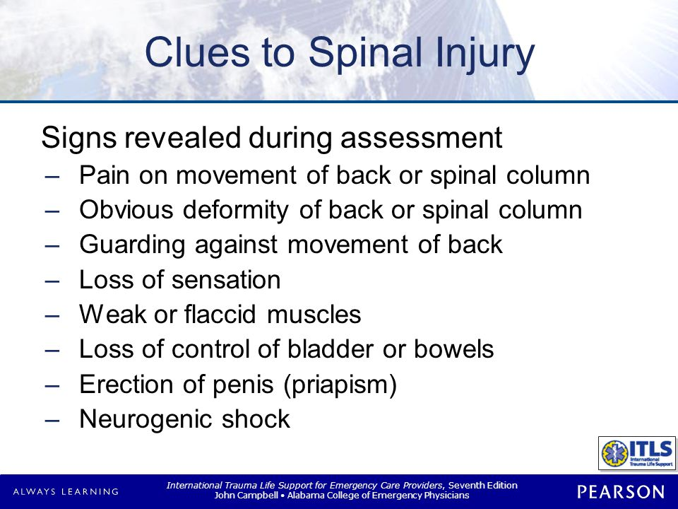 Management Spinal motion restriction (SMR) Modification required