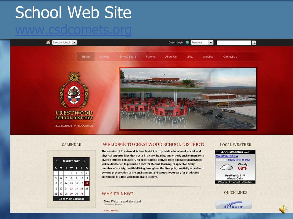 School Web Site www.csdcomets.org