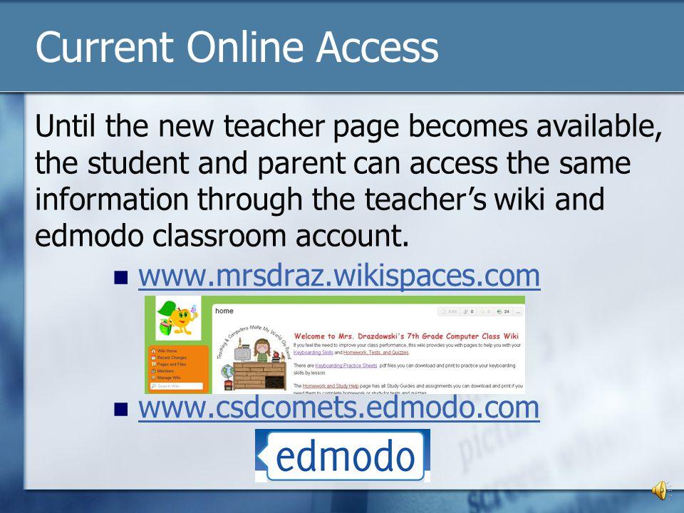 Current Online Access