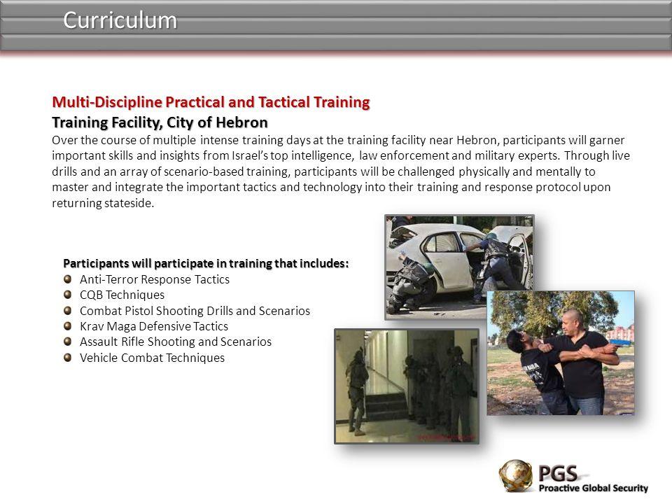 Curriculum Multi-Discipline Practical and Tactical Training