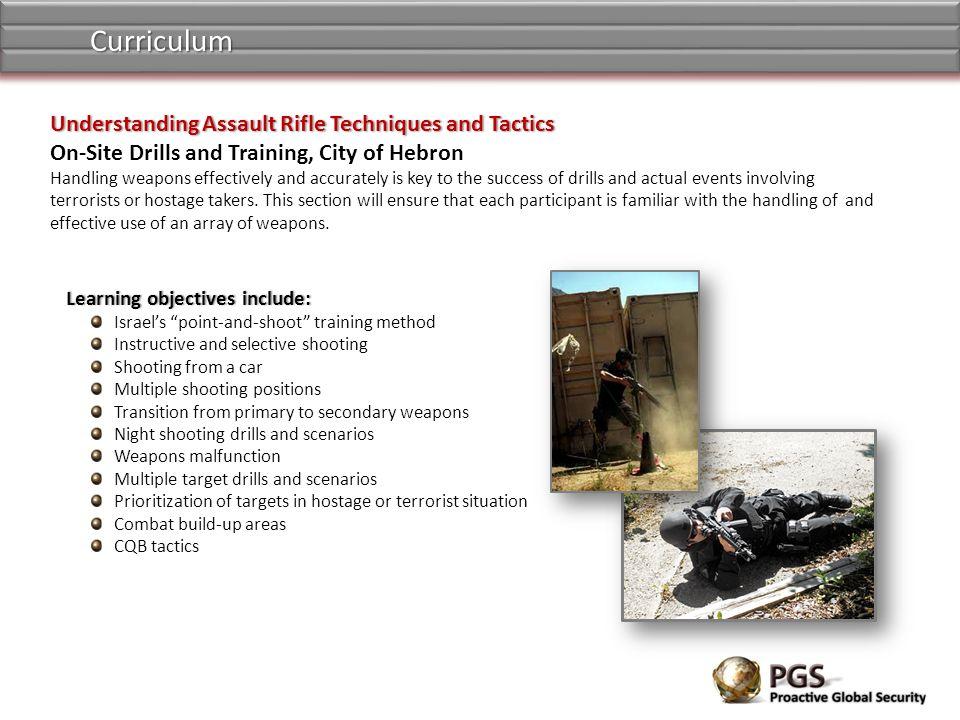 Curriculum Understanding Assault Rifle Techniques and Tactics