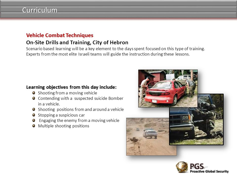Curriculum Vehicle Combat Techniques