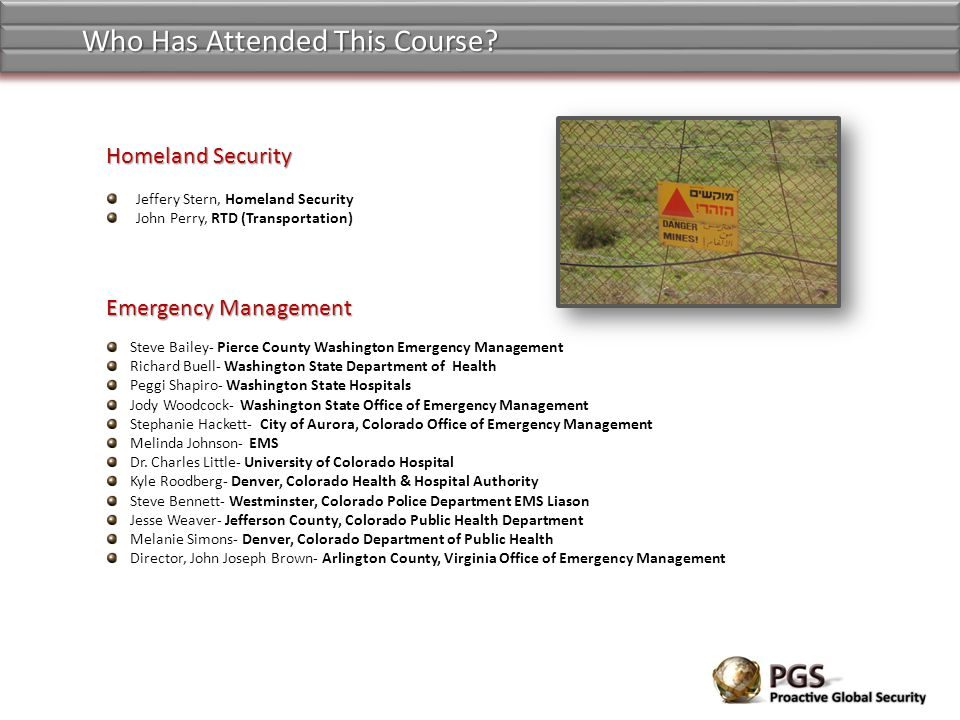 Who Has Attended This Course