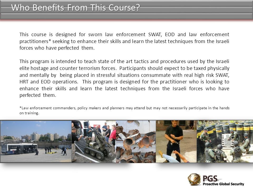 Who Benefits From This Course