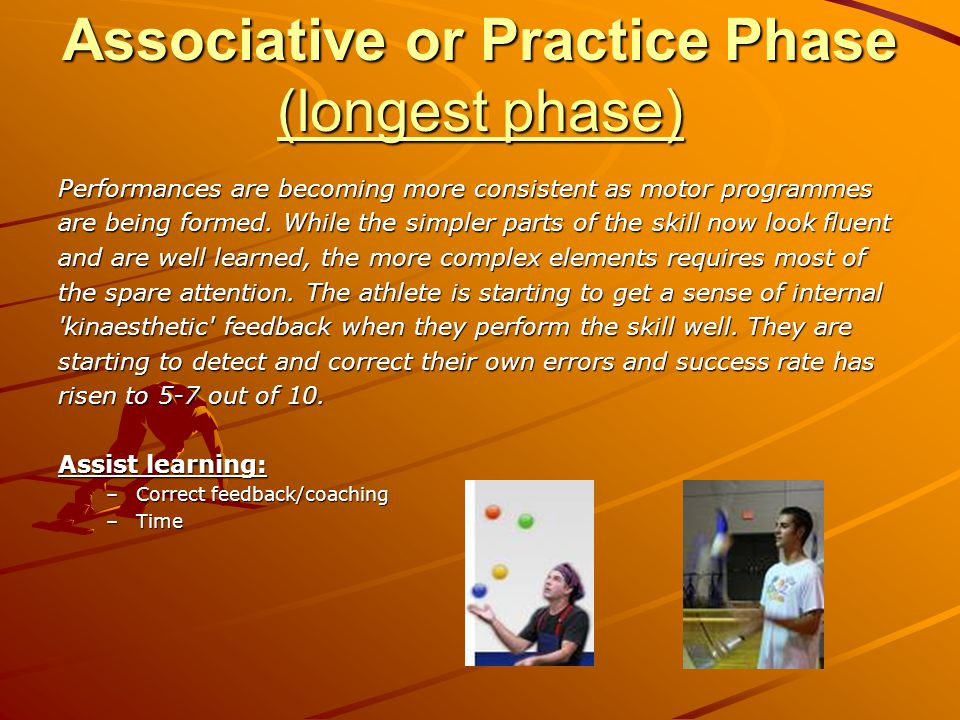 Associative or Practice Phase (longest phase)