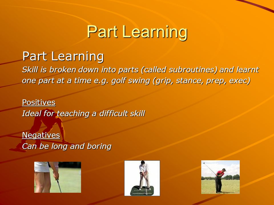 Part Learning Part Learning