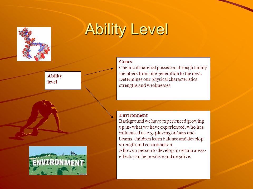 Ability Level Ability. level. Genes.
