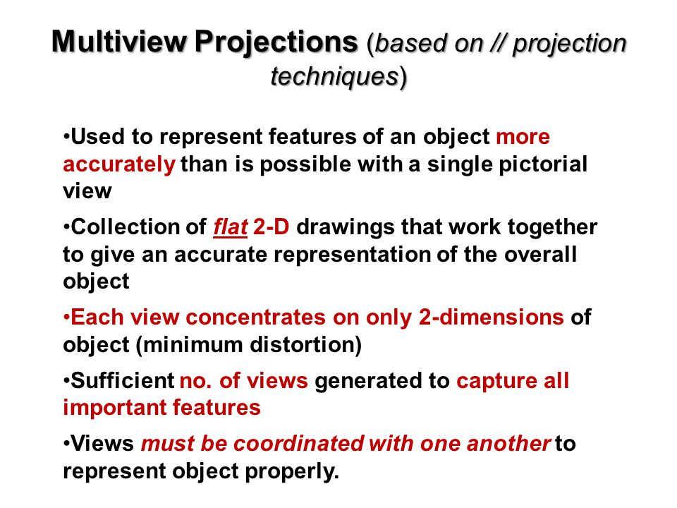 Multiview Projections (based on // projection techniques)