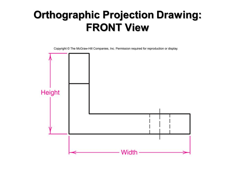 Orthographic Projection Drawing: