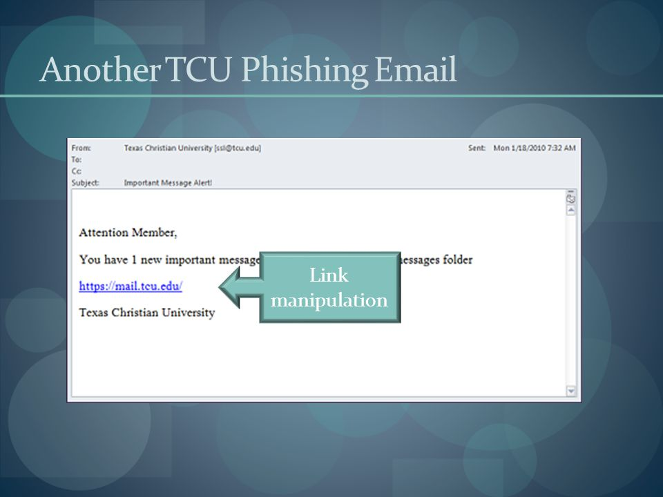 Another TCU Phishing Email