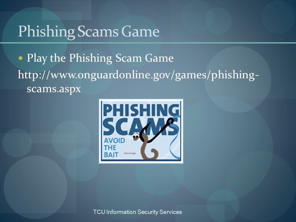 Phishing Scams Game Play the Phishing Scam Game