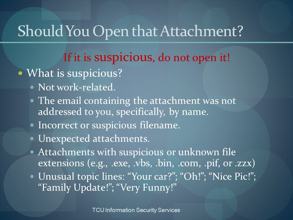 Should You Open that Attachment