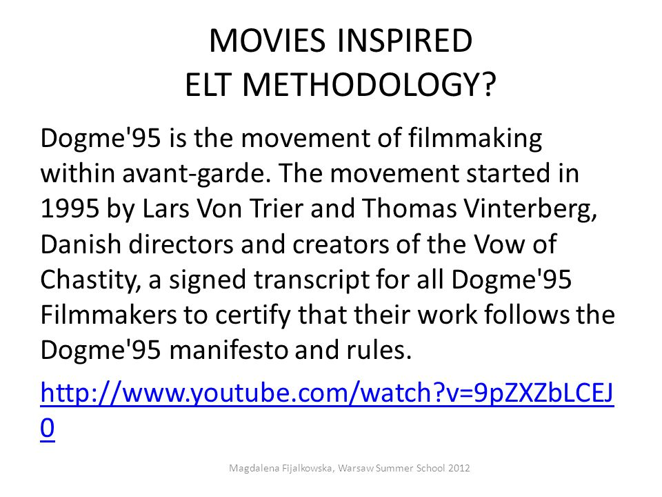 MOVIES INSPIRED ELT METHODOLOGY