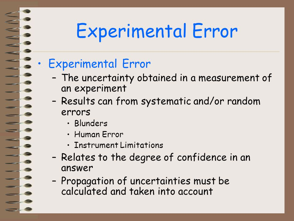error analysis within an experiment Is an experiment for which the appropriate analysis is the between-subjects one-way analysis of error variance this is the variance within.