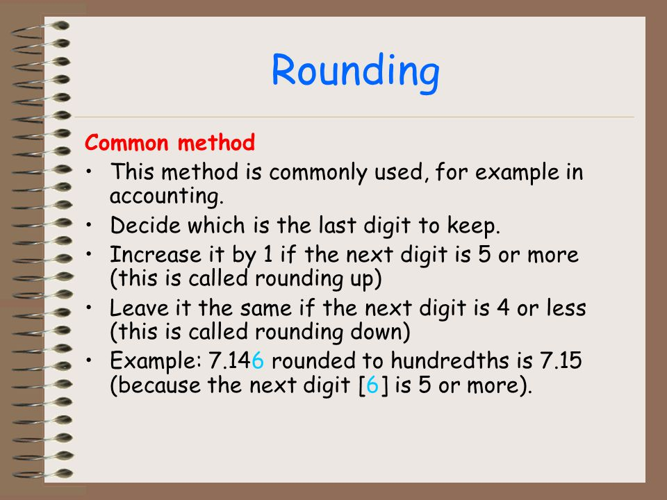 Rounding Common method