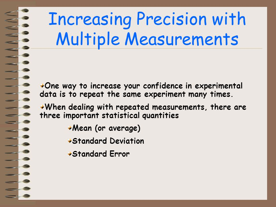 Increasing Precision with Multiple Measurements