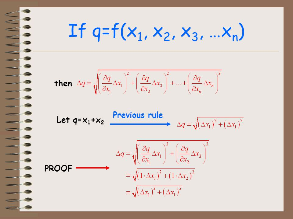 If q=f(x1, x2, x3, …xn) then Previous rule Let q=x1+x2 PROOF