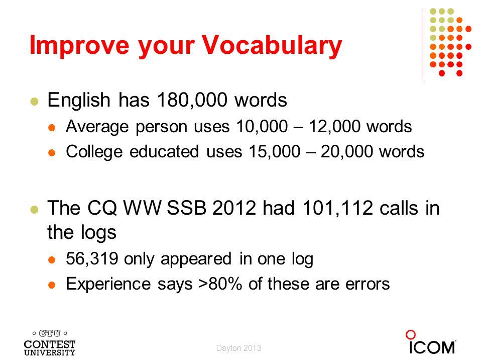 Improve your Vocabulary