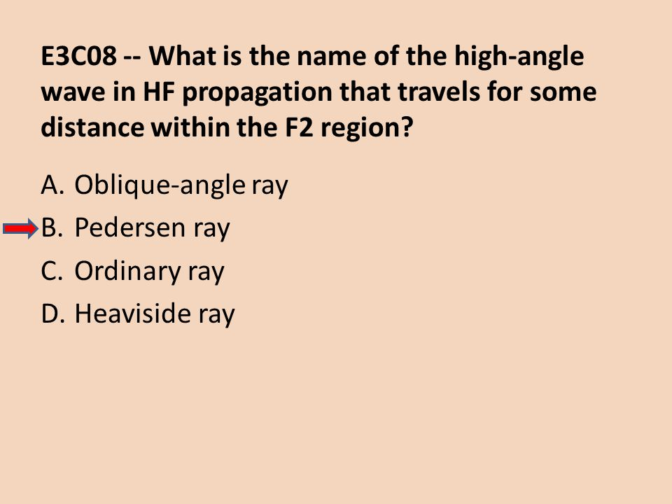 E3C08 -- What is the name of the high-angle wave in HF propagation that travels for some distance within the F2 region