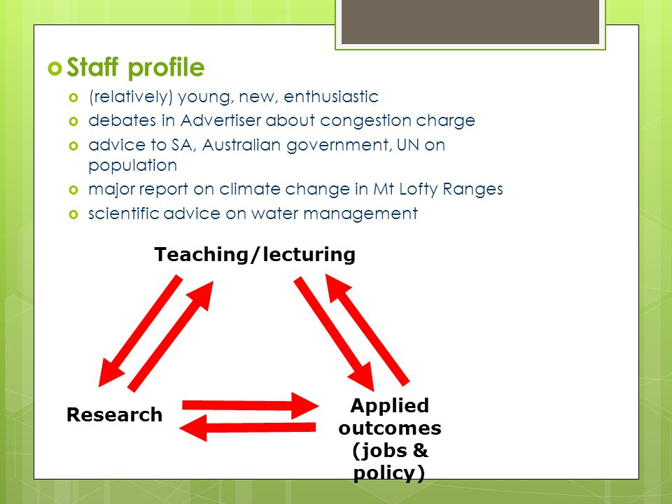 Teaching and Research Focus