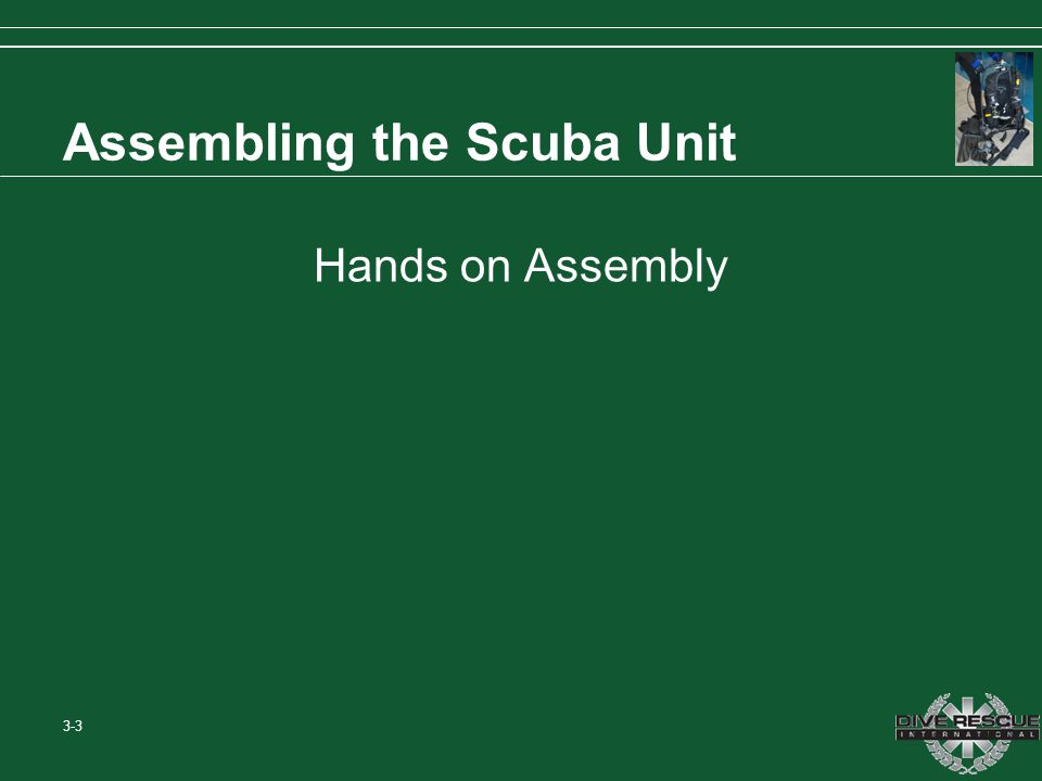 Assembling the Scuba Unit