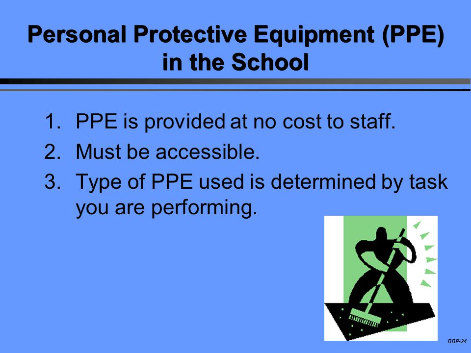 Personal Protective Equipment (PPE) in the School
