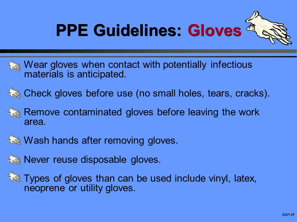 PPE Guidelines: Gloves