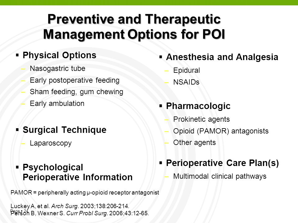 Preventive and Therapeutic Management Options for POI