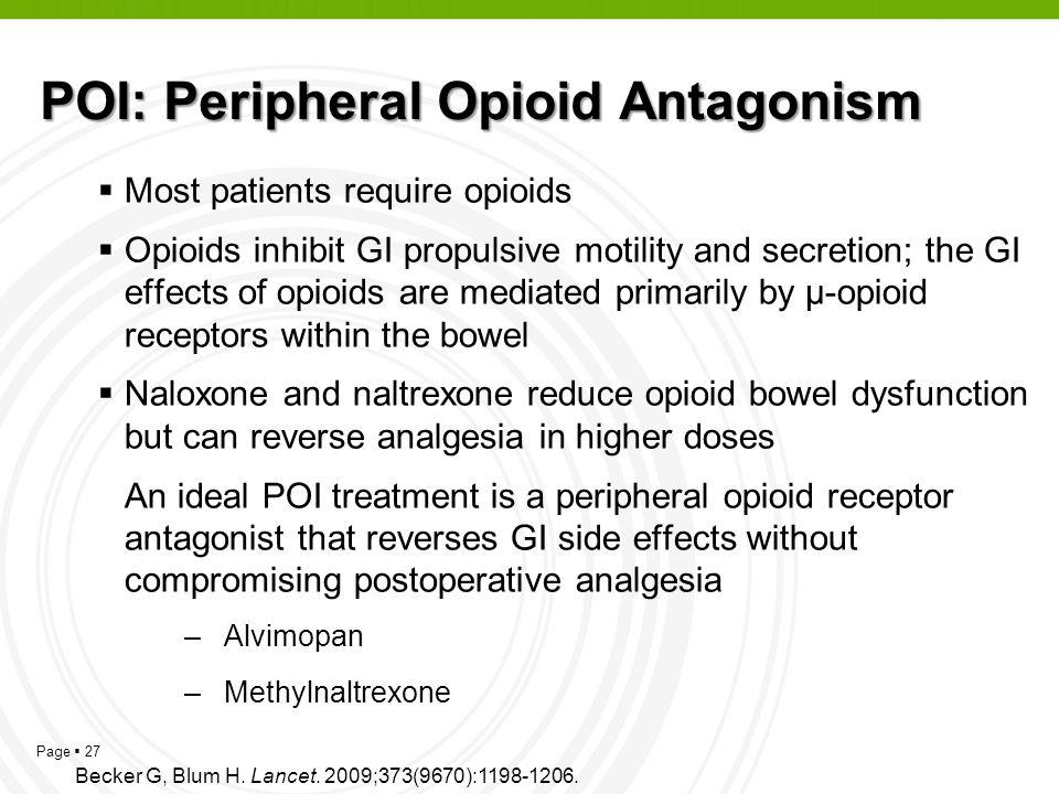 POI: Peripheral Opioid Antagonism