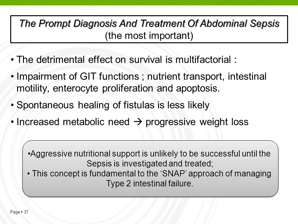 The Prompt Diagnosis And Treatment Of Abdominal Sepsis