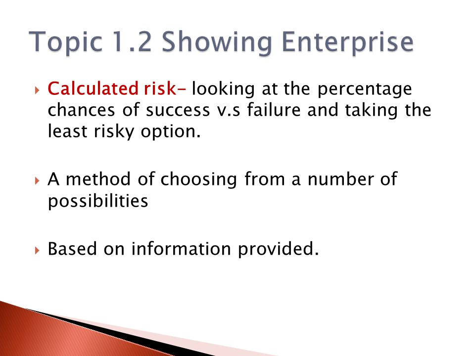 Topic 1.2 Showing Enterprise