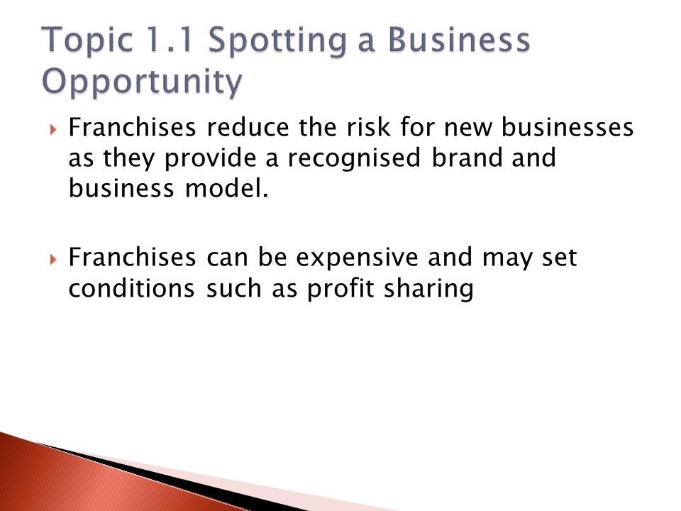 Topic 1.1 Spotting a Business Opportunity