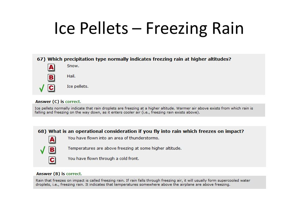 Ice Pellets – Freezing Rain