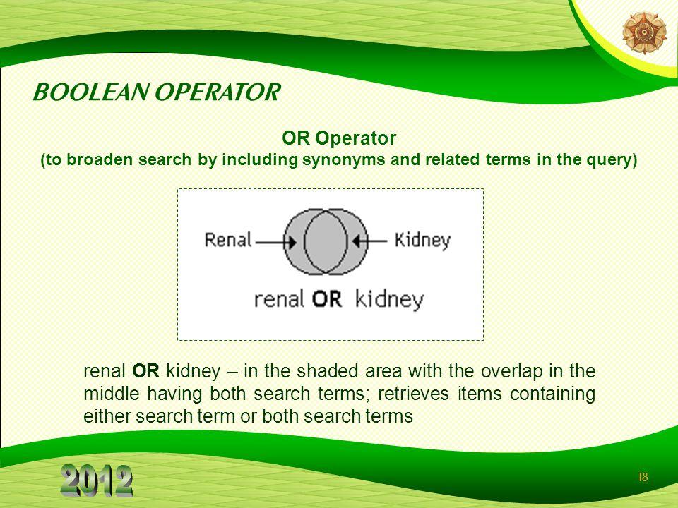 BOOLEAN OPERATOR OR Operator