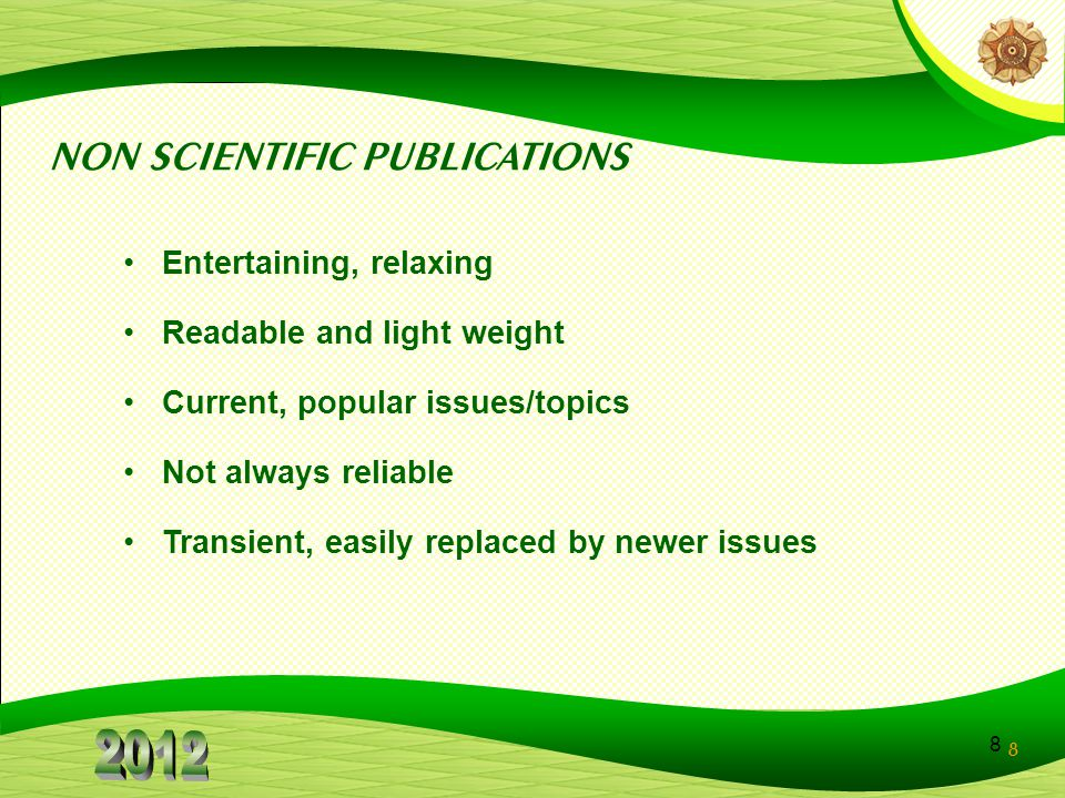 NON SCIENTIFIC PUBLICATIONS