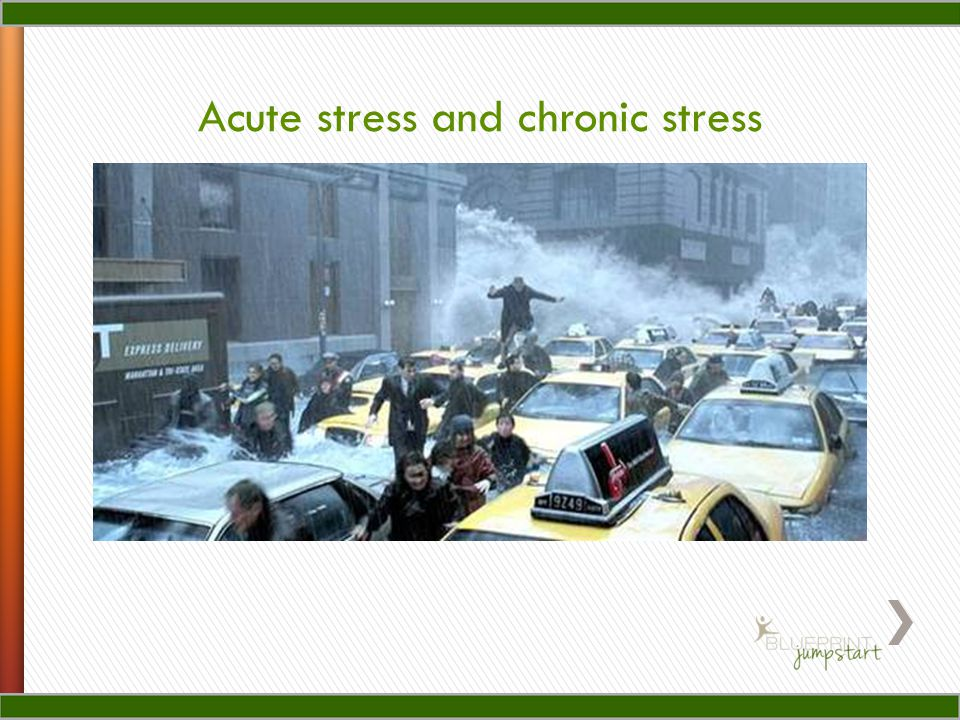 Acute stress and chronic stress