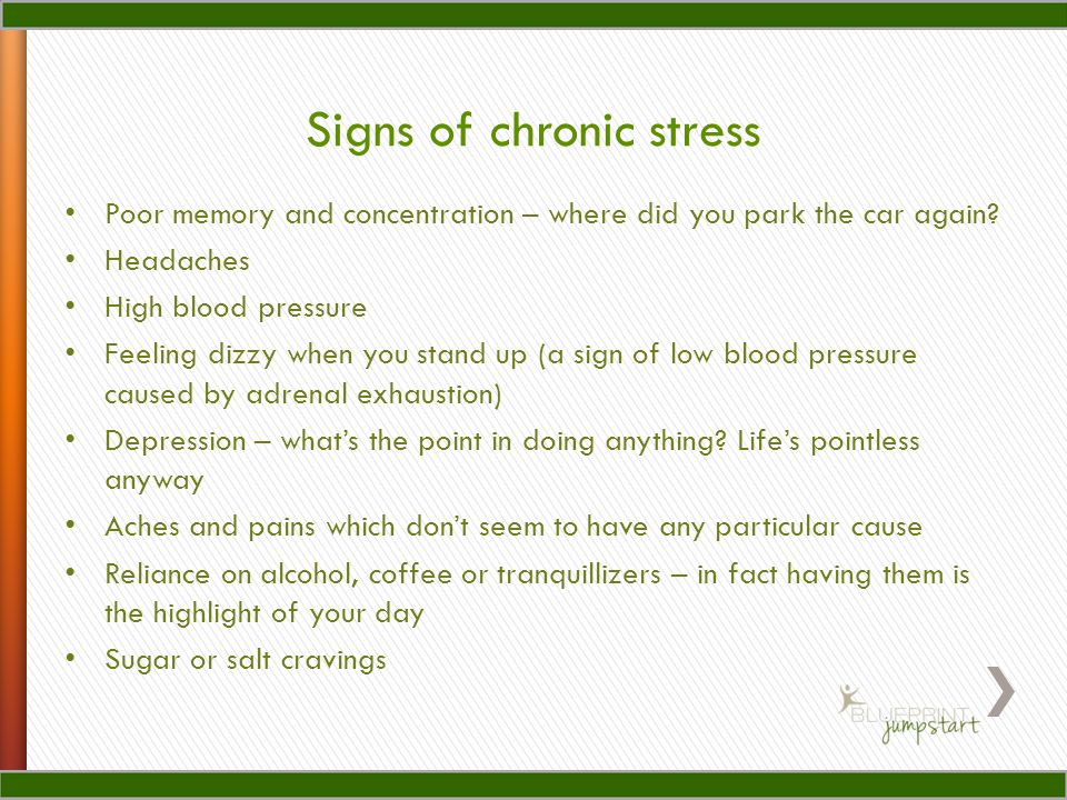 Signs of chronic stress