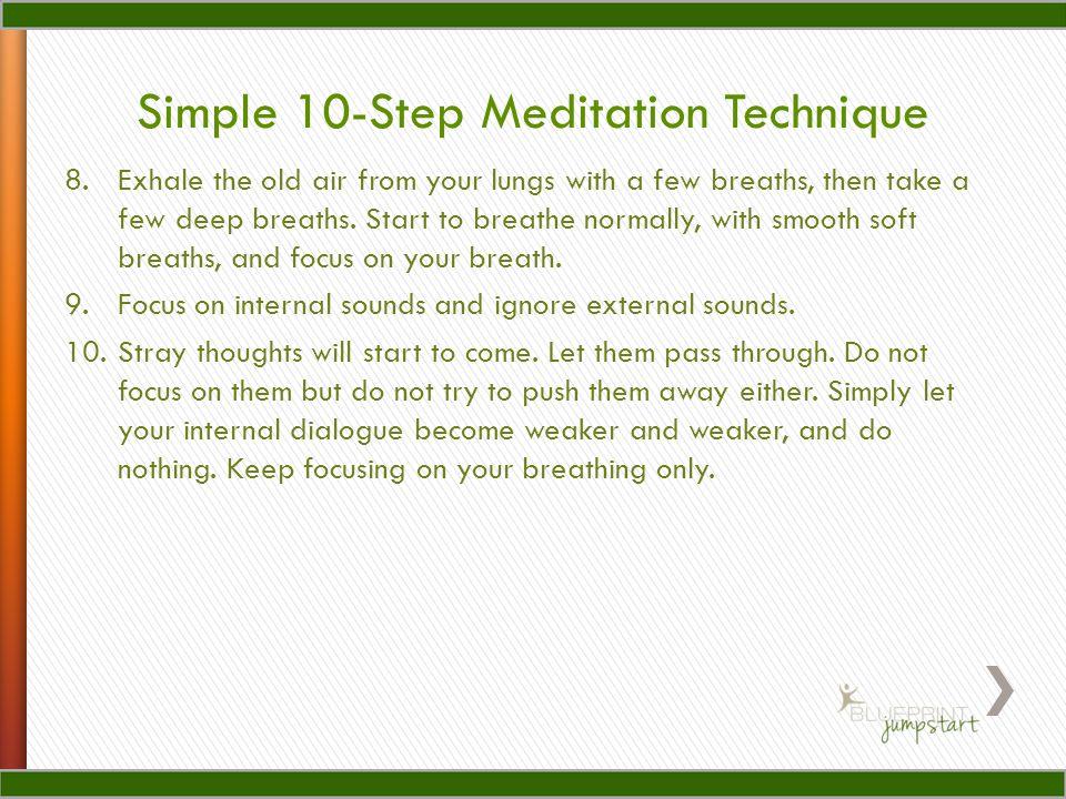 Simple 10-Step Meditation Technique