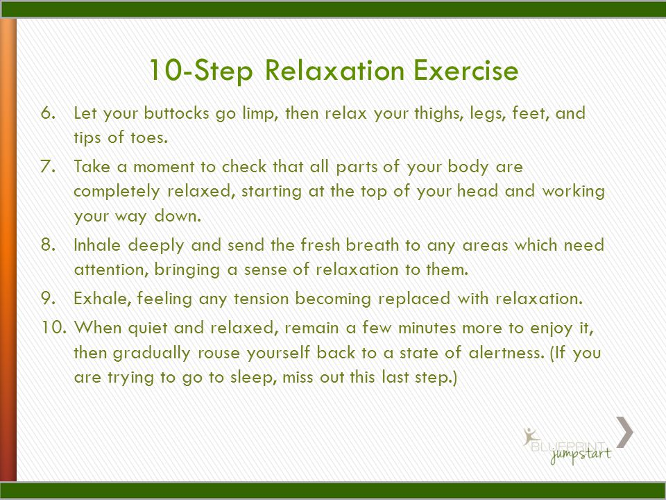 10-Step Relaxation Exercise