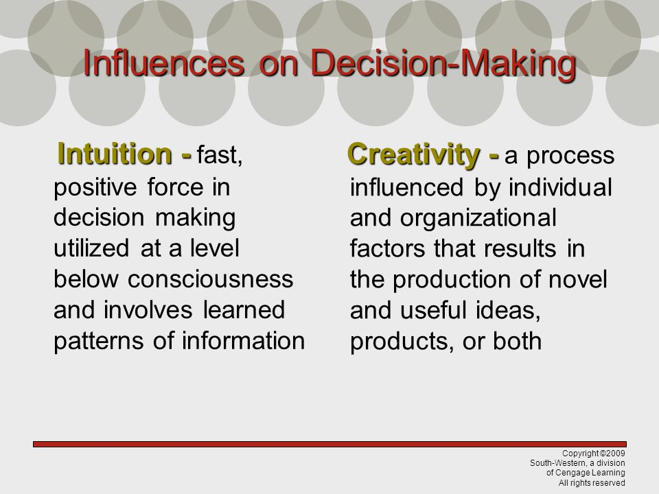 Influences on Decision-Making