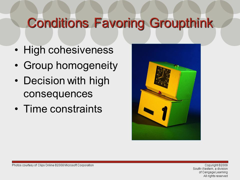 Conditions Favoring Groupthink