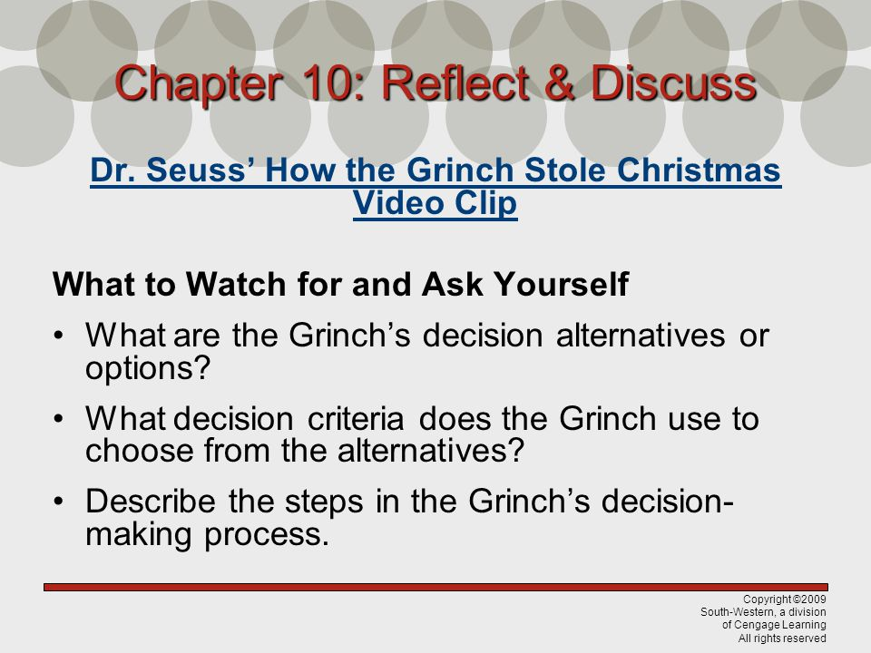 Chapter 10: Reflect & Discuss