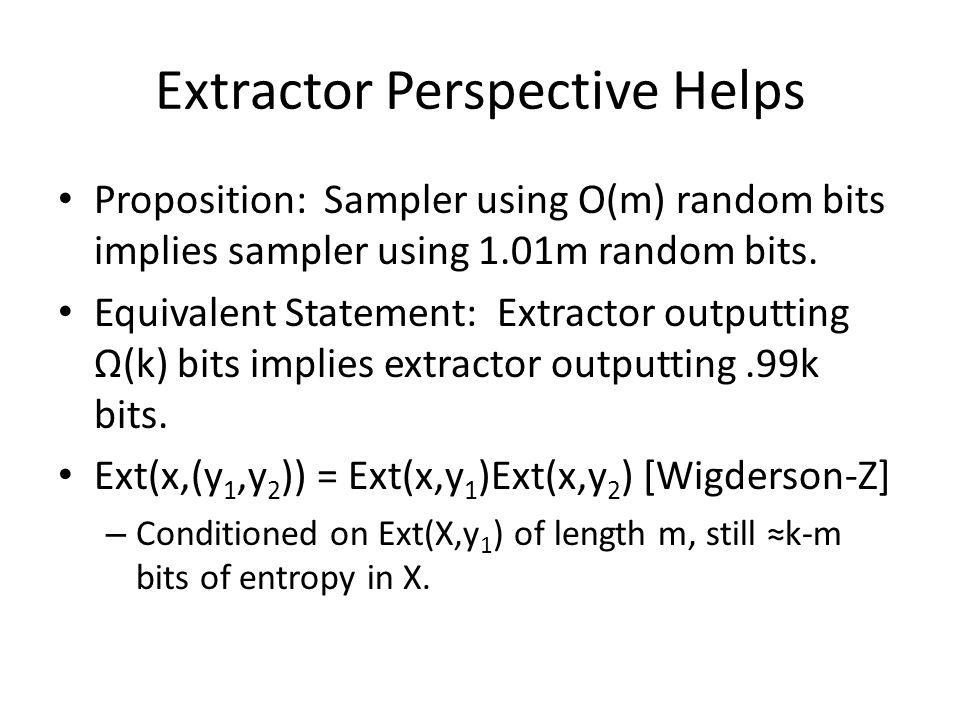 Extractor Perspective Helps